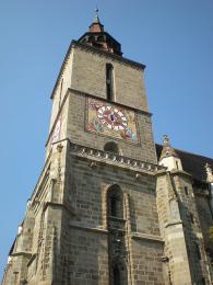 Věž Černého kostela, jenž dostal jméno po velkém požáru vroce 1689