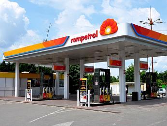 Čerpací stanice rumunské společnosti Rompetrol
