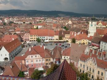 Historické centrum transylvánského města Sibiu