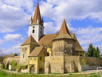 Opevněný kostel St. Sevastius nedaleko města Sibiu