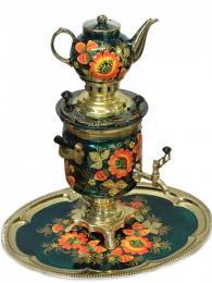 Nádherně zdobený tradiční samovar
