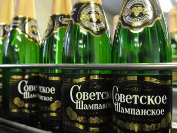 Láhev oblíbeného šampaňského