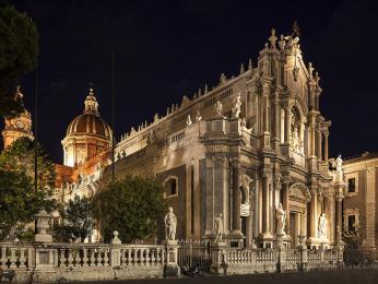 Barokní katedrála svaté Agáty v Catanii