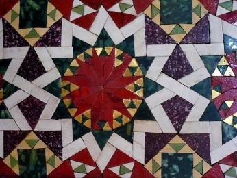 Detail mozaiky Palatinské kaple v Palermu