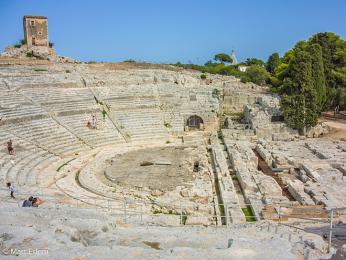 Řecké divadlo vSyrakusách mělo kapacitu 15000diváků