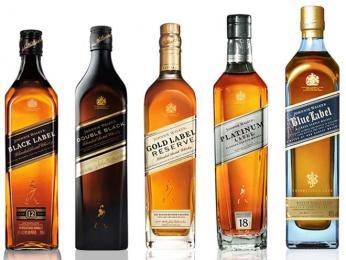 Známá skotská whisky Johnnie Walker