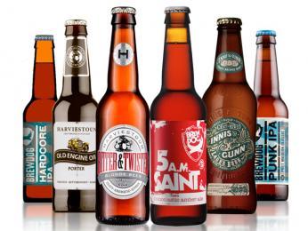 Skotské pivo značek malých pivovarů