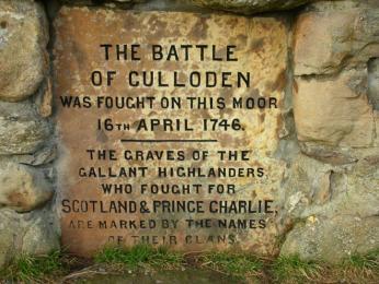 Památník bitvy u Cullodenu nedaleko Inverness