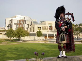 Nová budova skotského parlamentu vEdinburghu