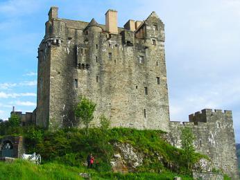 Detail hradu Eilean Donan