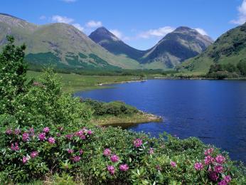 Oblast Glen Etive na Skotské vysočině