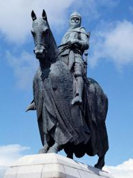 Skotský král Robert Bruce vBannockburn