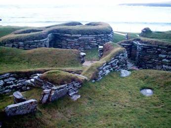 Osada Skara Brae na Orknejských ostrovech