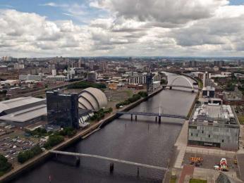 Výhled na město z Glasgow Tower
