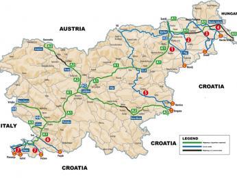 Hlavní dálniční tahy ve Slovinsku