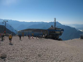 Horní stanice lanovky lyžařského střediska Kanin vlétě