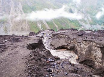 Sopečný bahnotok neboli lahar je kvidění také na Islandu