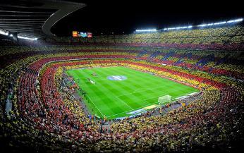 Fotbalový stadion Camp Nou vBarceloně