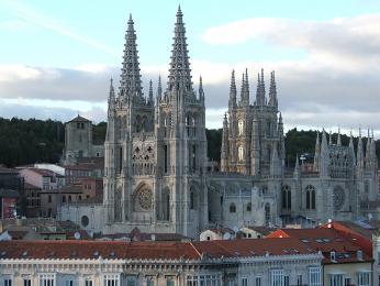 Gotická katedrála ve městě Burgos