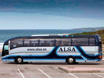 Autobus španělského dopravce Alsa