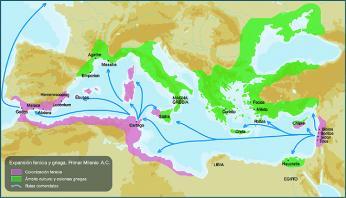 Fénická a řecká kolonizace Středomoří