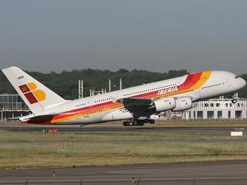 Letadlo španělské letecké společnosti Iberia