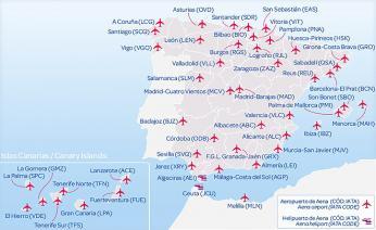 Letiště na území Španělska