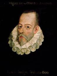 Portrét Miguela de Cervantes od malíře Juana Jáuregui