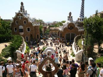 Guadího park Güell vBarceloně