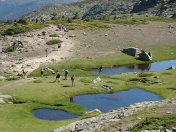 Jezera v pohoří Sierra Guadarrama