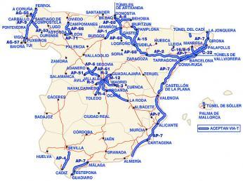 Zpoplatněné dálniční úseky ve Španělsku