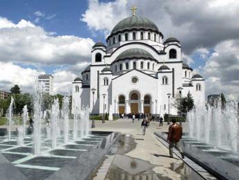 Chrám svatého Sávy je významnou dominantou Bělehradu