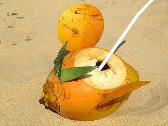 Kokosové mléko je běžně kdostání iustánků podél silnic