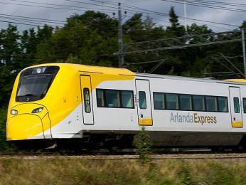 Arlanda Express, rychlovlak spojující letiště vArlandě shlavním městem Stockholmem