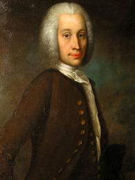 Portrét uppsalského rodáka, fyzika a astronoma Anderse Celsia (1701–1744)