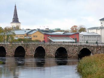 Kamenný most Östra bron (Východní most) vKarlstadu