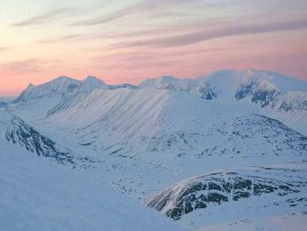 Kebnekaise, nejvyšší hora Švédska (2102mn.m.)