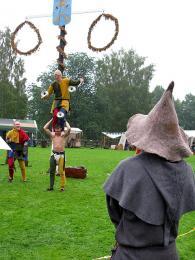 Zábava s maškarami na lokálních středověkých trzích vBorlänge