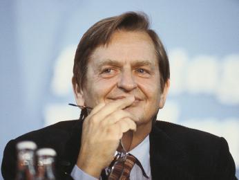 Olof Palme, švédský premiér 1969–1976 apředseda sociálních demokratů