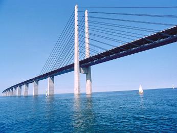 Öresundský most zKodaně do Malmö