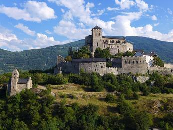 Starověká bazilika Valère u švýcarského Sionu