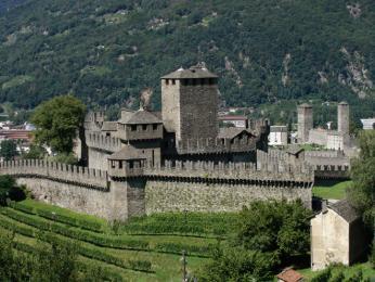 Hrad Castelgrande vBellinzoně