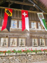 Výzdoba koslavě státního svátku Schweizer Bundesfeiertag