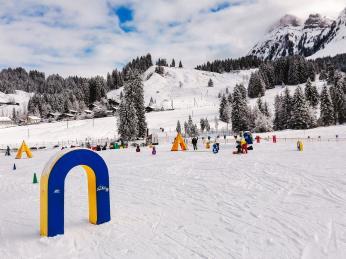 Dětský lyžařský park Eriz na hranici regionů Emmental a Berner Oberland