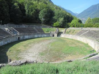 Zachovalé římské divadlo ve švýcarském Martigny