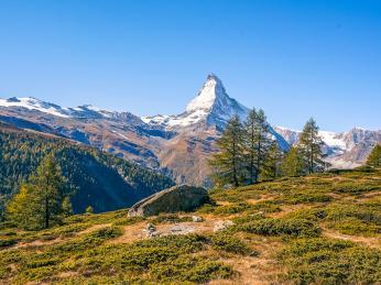 Pohled na majestátní Matterhorn