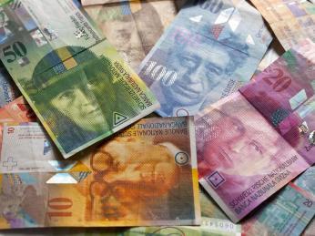Švýcarský frank se dělí na 100Rappen
