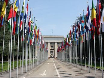 Palác národů v Ženevě je sídlem OSN