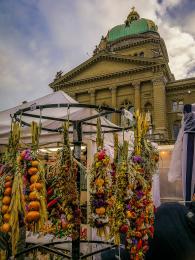 Tradiční listopadový cibulový trh vBernu
