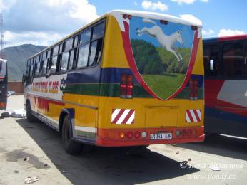 Autobusy jsou často ozdobené zajímavými obrázky